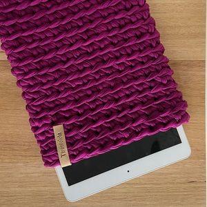 Handmade crochet tablet cover!